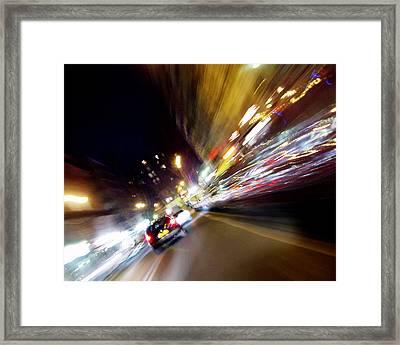 Parisian Street Framed Print by Mieczyslaw Rudek Mietko