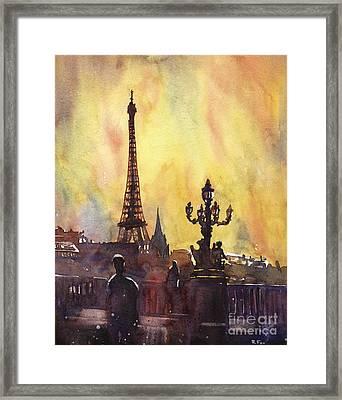 Parisian Sunset Framed Print by Ryan Fox