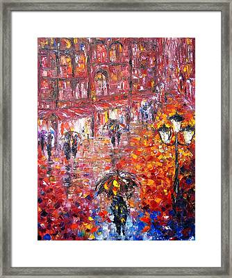 Parisian Umbrellas Framed Print by Helen Kagan