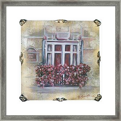 Parisian Window Framed Print by Bonnie Sprung