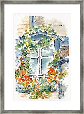 Parisian Window Framed Print