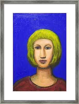 Parisienne With A Bob Haircut Framed Print by Kazuya Akimoto
