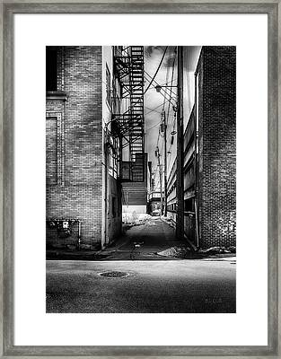 Park Alley Sunset Framed Print by Bob Orsillo