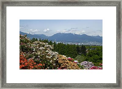 Framed Print featuring the photograph Park And City View by Laurie Tsemak