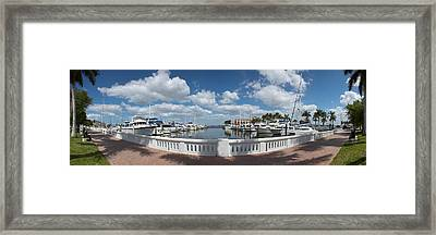 Park At The Riverside, Twin Dolphin Framed Print by Panoramic Images