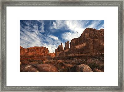 Park Ave Overlook At Arches National Park Framed Print