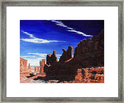 Park Avenue At Arches Framed Print by Timithy L Gordon