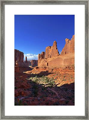 Park Avenue Sunset Framed Print by Alan Vance Ley