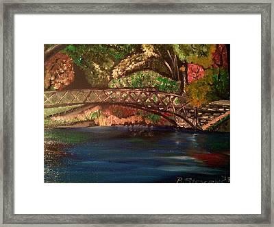 Park Framed Print by Barbara Judkins-Stevens