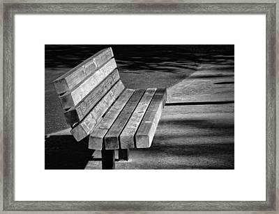 Park Bench Framed Print by Ludwig Keck