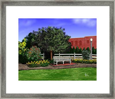 Park Bench Framed Print by Patrick Belote