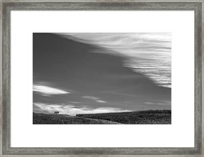 Park Bench Framed Print by Peter Tellone