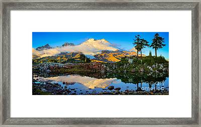 Park Butte Panorama Framed Print by Inge Johnsson