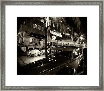 Framed Print featuring the photograph Park Central Hotel by Gary Dean Mercer Clark