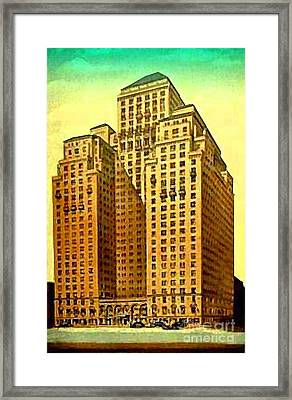 Park Central Hotel In New York City Framed Print by Dwight Goss