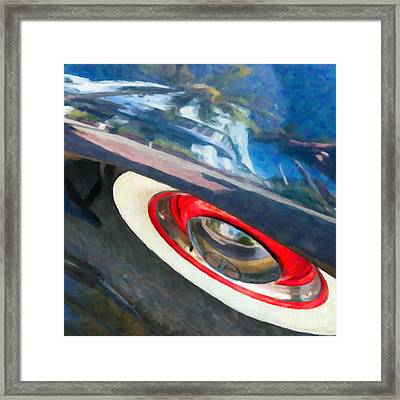 Park Central Hotel Reflection - South Beach - Miami - Square - Oil Paint Effect Framed Print by Ian Monk
