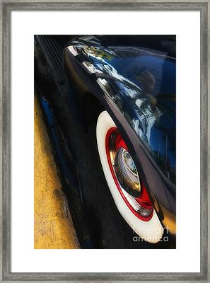 Park Central Hotel Reflection On Oldsmobile Wing - South Beach - Miami  Framed Print by Ian Monk