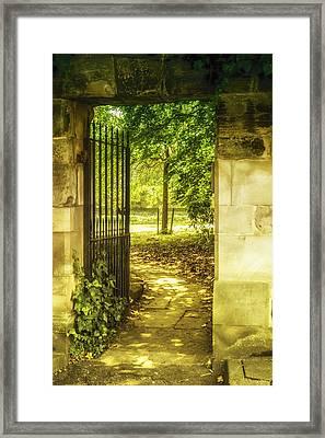 Park Entrance Framed Print by Georgia Fowler