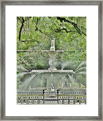 Forsyth Park Fountain - Savannah Georgia Framed Print