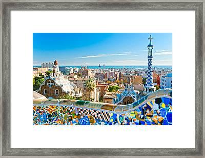 Park Guell - Barcelona Framed Print
