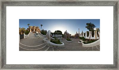 Park Guell, Barcelona, Catalonia, Spain Framed Print by Panoramic Images