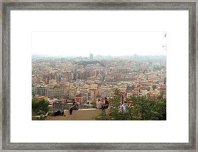 Park Guell Barcelona Framed Print by Jon Cotroneo