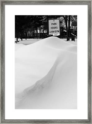 Park Hours Framed Print