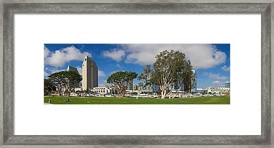 Park In A City, Embarcadero Marina Framed Print