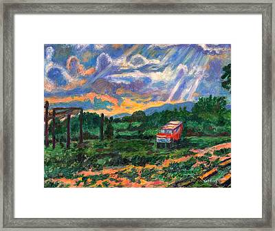 Park In Floyd Framed Print by Kendall Kessler