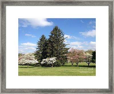 Framed Print featuring the photograph Cedar Beach Park  by Jeannie Rhode