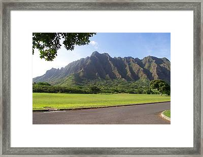 Park On Oahu Framed Print