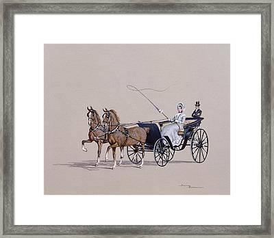 Park Phaeton Framed Print by Ninetta Butterworth