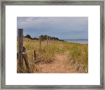 Park Point Minnesota Beach Entrance Framed Print
