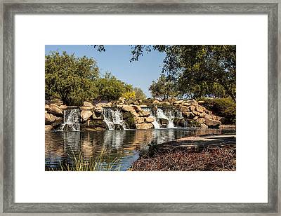 Park Reflections Framed Print by Fred Larson