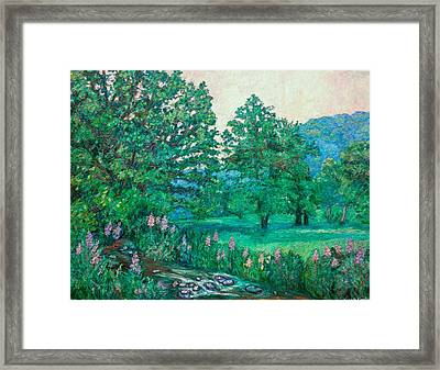 Framed Print featuring the painting Park Road In Radford by Kendall Kessler