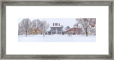 Park Row Panorama Framed Print