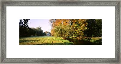 Park Sans-souci W Teahouse In Autumn Framed Print by Panoramic Images