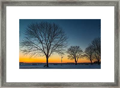 Park Sunset Framed Print