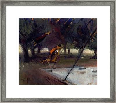 Park Swings Framed Print by Ted Reynolds