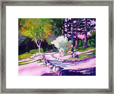 Park Trails 2           Framed Print by Kathy Braud