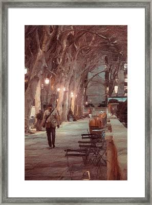 Park Walk Framed Print by Emmanouil Klimis