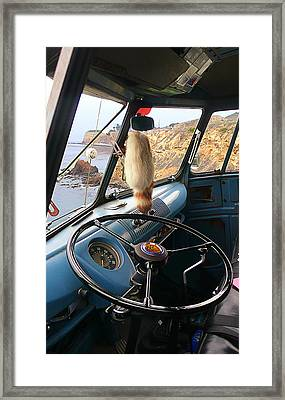 Parked Above The Cliffs Framed Print