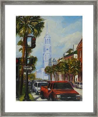 Parked In Charleston Framed Print