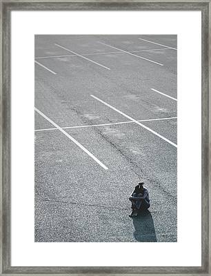 Parked Outside The Lines Framed Print
