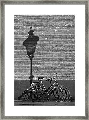 Parked Under The Lamp Post Framed Print by Inge Riis McDonald