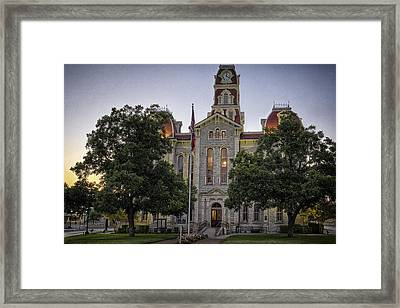 Parker County Courthouse Framed Print