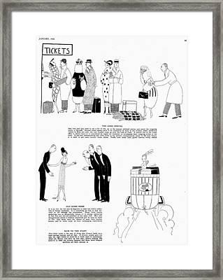 Parker Divorce, 1920 Framed Print