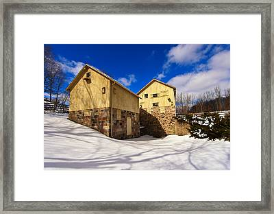 Parker Mill Winter Framed Print by Rachel Cohen
