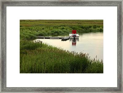 Parker River Boat Framed Print by Gail Maloney