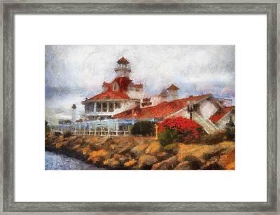 Parkers Lighthouse Restaurant Photo Art Framed Print